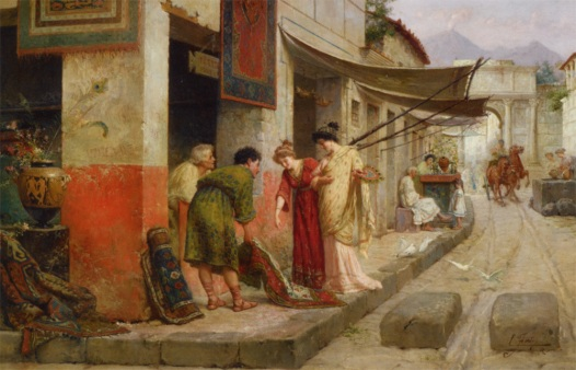 Forti_Ettore_Carpet_Merchant_in_Pompeii_Oil_on_Canvas-large