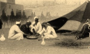 7_a_late_afternoon_meal_at_an_encampment_cairo_arabian_orientalist_charles-theodore_frere-copia
