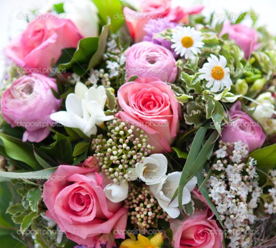 colorful spring flowers bouquet
